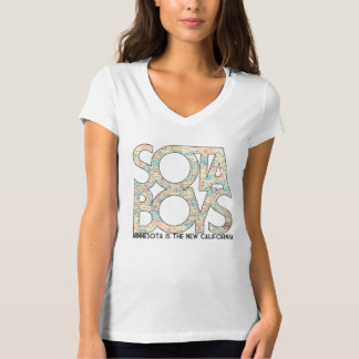"""Minnesota is the New California"" Sota Girl V-Neck T-Shirt"