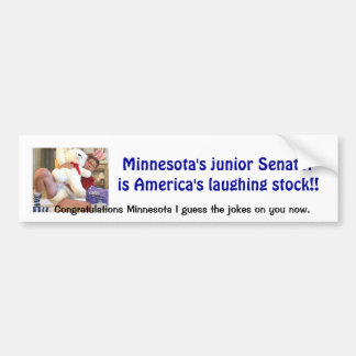 Minnesota Joke Bumper Sticker