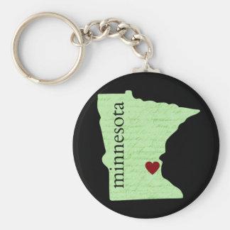 Minnesota Keychain with Heart