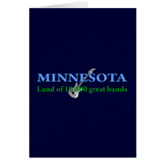 Minnesota - Land of 10,000 Bands Card