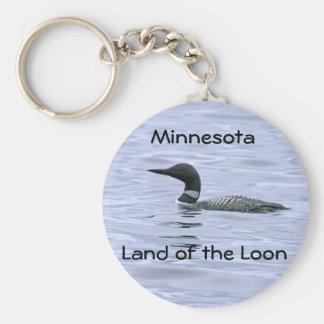 Minnesota Land of the Loon Key Ring