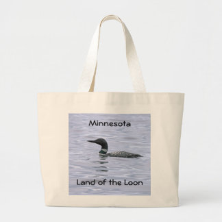Minnesota Land of the Loon Large Tote Bag