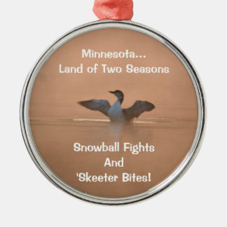 Minnesota...Land of Two Seasons Christmas Ornament