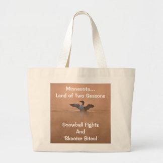 Minnesota...Land of Two Seasons Jumbo Tote Bag
