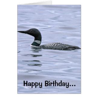 Minnesota Loon Birthday Card