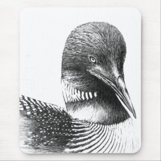 Minnesota Loon By William Martin Mouse Mat