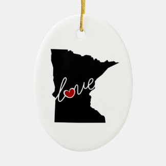 Minnesota Love!  Gifts for MN Lovers Christmas Ornament