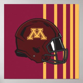 Minnesota M Football Helmet Poster