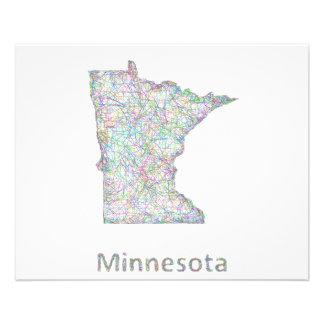 Minnesota map 11.5 cm x 14 cm flyer