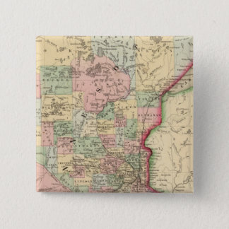 Minnesota Map by Mitchell 15 Cm Square Badge