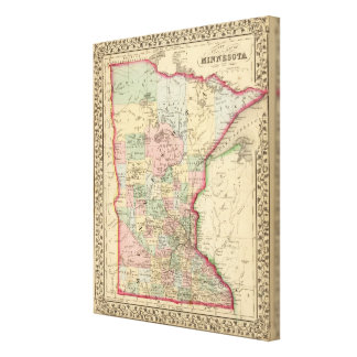 Minnesota Map by Mitchell Stretched Canvas Prints