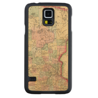 Minnesota Map by Mitchell Carved Maple Galaxy S5 Case