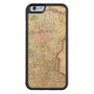 Minnesota Map by Mitchell Carved Maple iPhone 6 Bumper Case