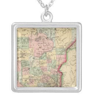 Minnesota Map by Mitchell Silver Plated Necklace