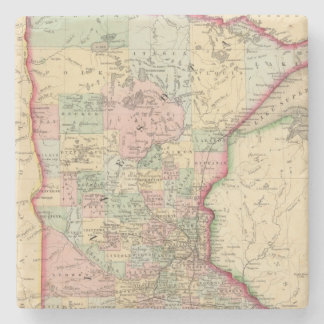 Minnesota Map by Mitchell Stone Coaster