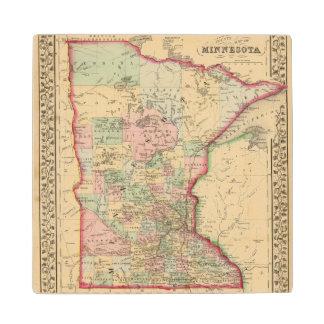 Minnesota Map by Mitchell Wood Coaster