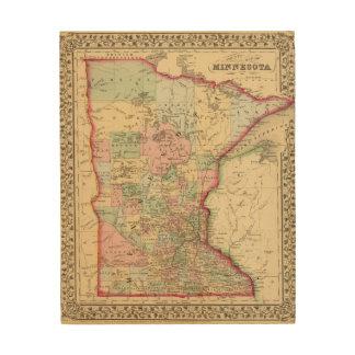 Minnesota Map by Mitchell Wood Wall Art