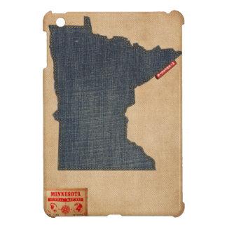 Minnesota Map Denim Jeans Style iPad Mini Cover