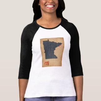 Minnesota Map Denim Jeans Style T-Shirt