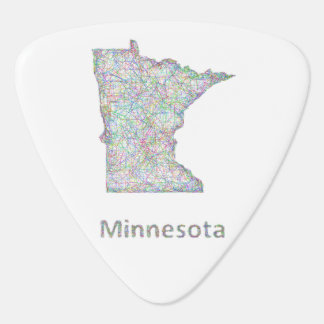 Minnesota map guitar pick