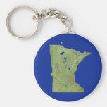Minnesota Map Keychain