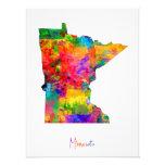 Minnesota Map Photo Print