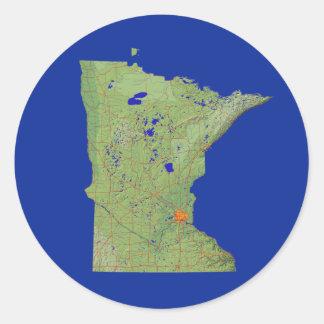 Minnesota Map Sticker