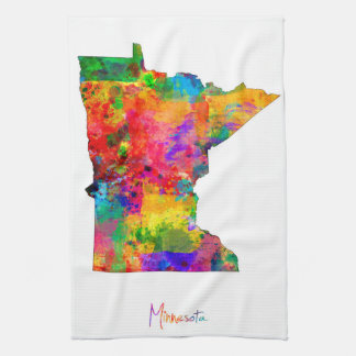 Minnesota Map Tea Towel
