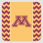 Minnesota Maroon and Gold M Square Stickers