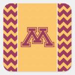 Minnesota Maroon and Gold M Sticker