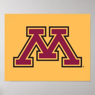 Minnesota Maroon & Gold Stroke M Poster