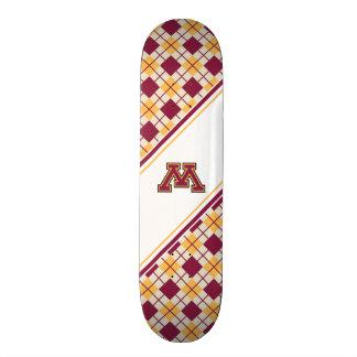 Minnesota Maroon & Gold Stroke M Skate Board Deck