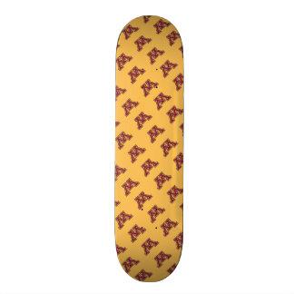 Minnesota Maroon & Gold Stroke M Skateboard Deck