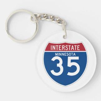 Minnesota MN I-35 Interstate Highway Shield - Key Ring