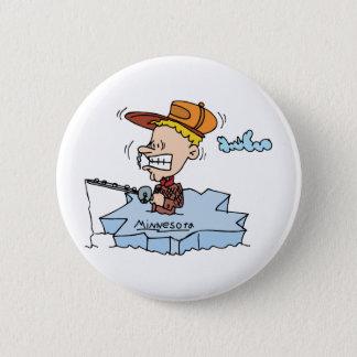 Minnesota MN Ice Fishing Vintage Travel Souvenir 6 Cm Round Badge