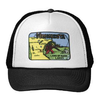 Minnesota MN Vintage Label Cap