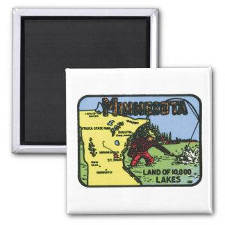 Minnesota MN Vintage Label Magnet