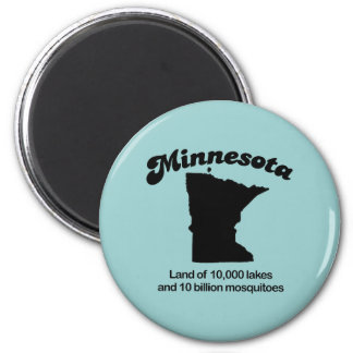 Minnesota Motto - Land of 10,000 lakes 6 Cm Round Magnet