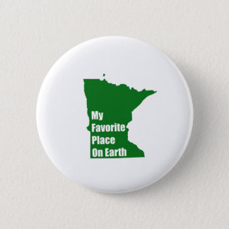 Minnesota My Favorite Place On Earth 6 Cm Round Badge