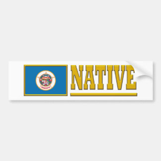 Minnesota Native Bumper Sticker