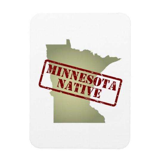 Minnesota Native Stamped on Map Rectangular Photo Magnet