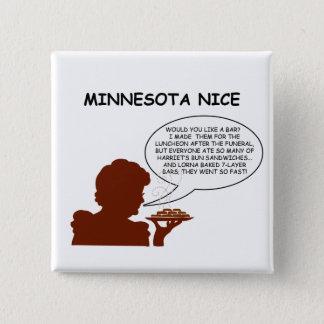 Minnesota Nice 15 Cm Square Badge