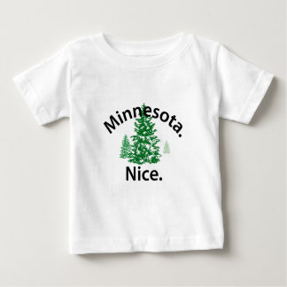 Minnesota Nice.  Period! (black text) Baby T-Shirt