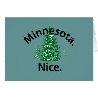 Minnesota Nice.  Period! (black text) Greeting Card