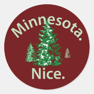 Minnesota Nice.  Period! Classic Round Sticker