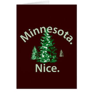 Minnesota Nice.  Period! Greeting Card