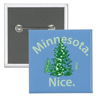 Minnesota Nice.  Period! Pinback Buttons