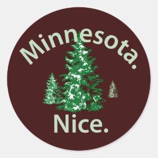 Minnesota Nice.  Period! Round Sticker