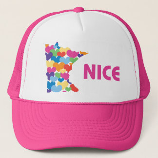 Minnesota Nice with Heart Hat