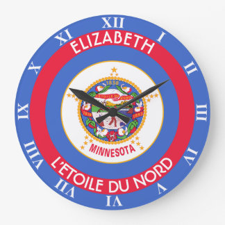 Minnesota North Star State Personalized Flag Clocks